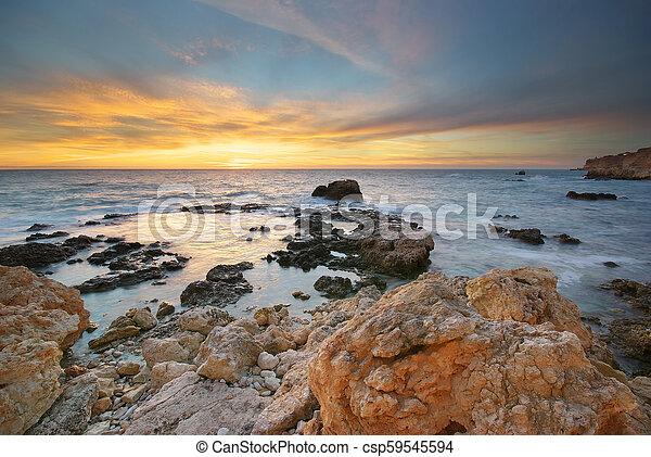 ηλιοβασίλεμα , sea. - csp59545594