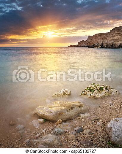 ηλιοβασίλεμα , sea. - csp65132727