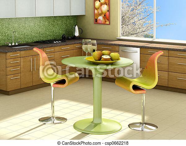 ηλιόλουστος , κουζίνα  - csp0662218