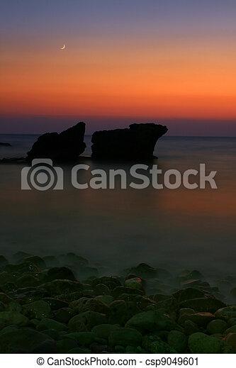 θάλασσα , νύκτα  - csp9049601
