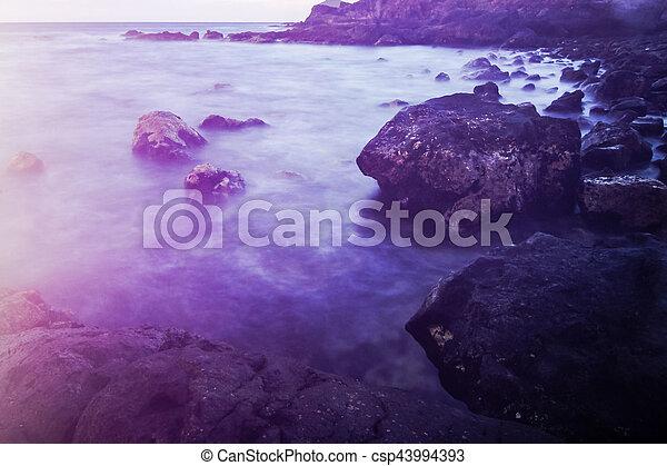 θάλασσα , tenerife , ακτή  - csp43994393