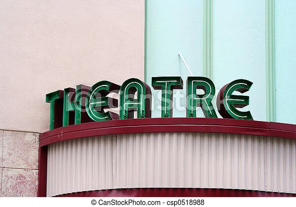 θέατρο , σήμα  - csp0518988