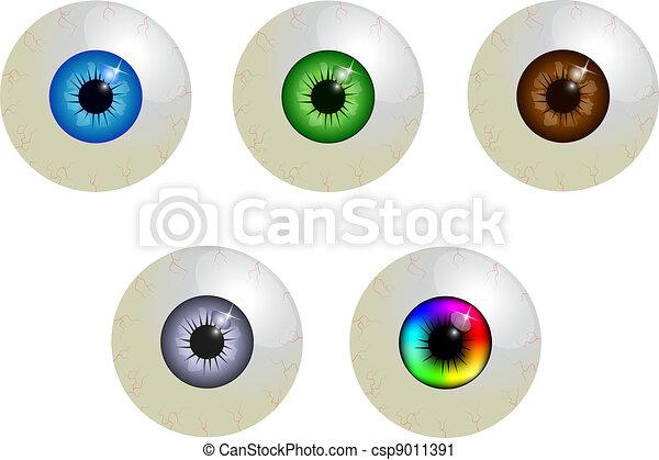 θέτω , βολβός οφθαλμού  - csp9011391