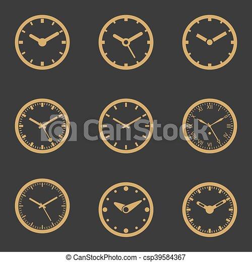 θέτω , ρολόι , - , απομονωμένος , εικόνα , μικροβιοφορέας , εικόνα  - csp39584367