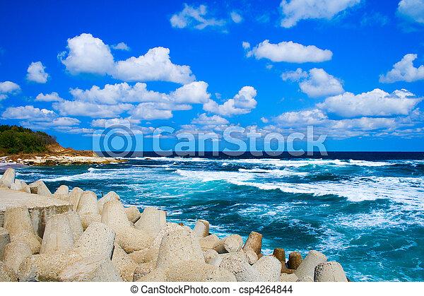 θαλασσογραφία , ειδυλλιακός , γαλήνειος  - csp4264844
