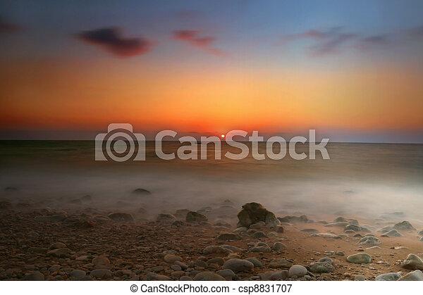 θαλασσογραφία , ηλιοβασίλεμα  - csp8831707