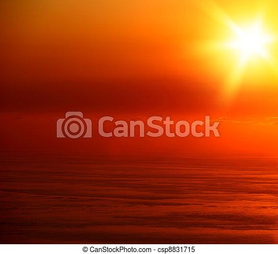 θαλασσογραφία , ηλιοβασίλεμα  - csp8831715