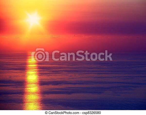 θαλασσογραφία , ηλιοβασίλεμα  - csp8326580