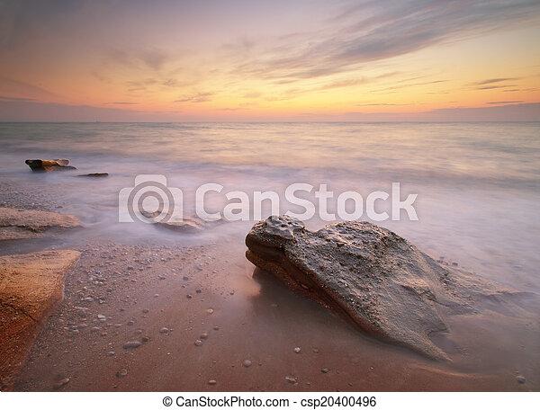 θαλασσογραφία , sunset. - csp20400496