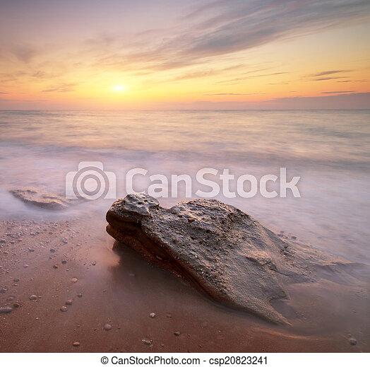 θαλασσογραφία , sunset. - csp20823241