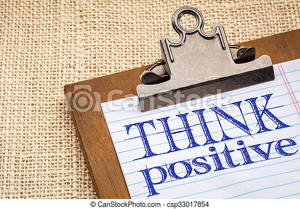 θετικός , γενική ιδέα , κρίνω  - csp33017854