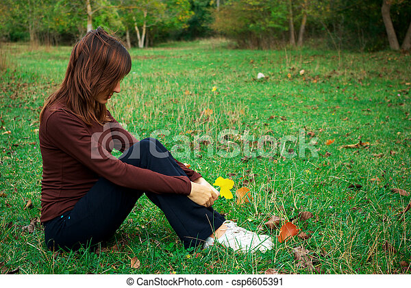 θλίψη , κορίτσι  - csp6605391