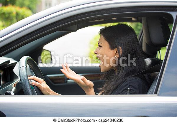 θυμωμένος , οδηγός  - csp24840230