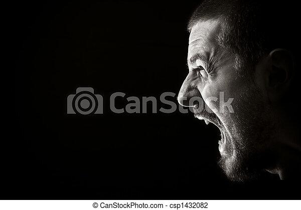 θυμός , ξεφωνίζω  - csp1432082