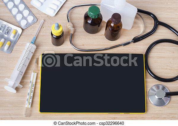 ιατρικός , θέμα , φόντο  - csp32296640