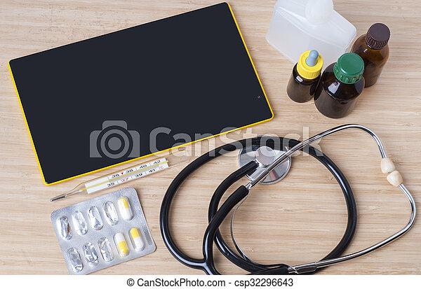 ιατρικός , θέμα , φόντο  - csp32296643