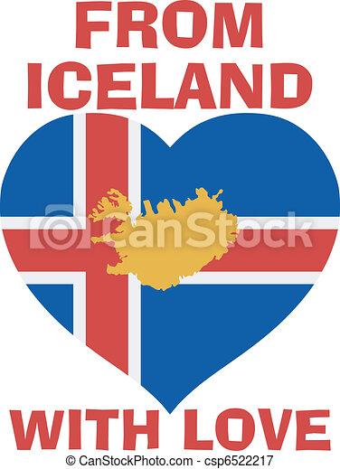 ισλανδία , αγάπη  - csp6522217