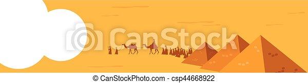 ιστός , σύνολο , καμήλες , banner., καραβάνι , άνθρωποι , editable, εικόνα , μέσο , μικροβιοφορέας , άμμος , east., ρεαλιστικός , ιππασία , εγκαταλείπω , ευρύς  - csp44668922