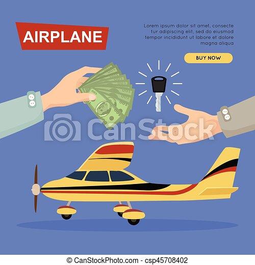 ιστός , banner., sale., αεροπλάνο , αεροπλάνο , online., εξαγορά  - csp45708402