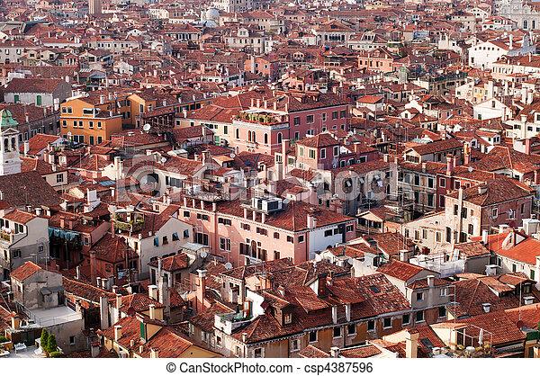 ιταλία , βενετία , στεγάζω , πανοραματικός , δήμος , βλέπω  - csp4387596