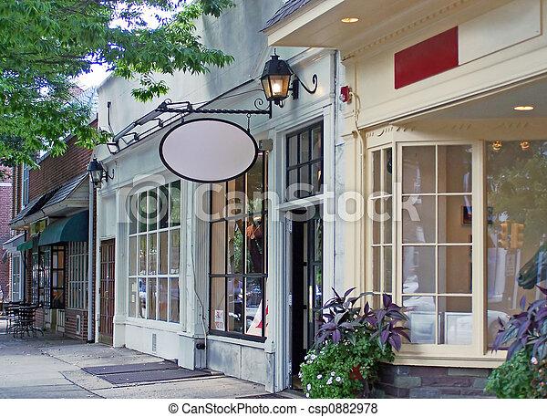 κάτω στην πόλη , αγοράζω από καταστήματα  - csp0882978