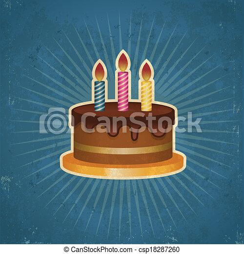 κέηκ , γενέθλια , retro , εικόνα  - csp18287260