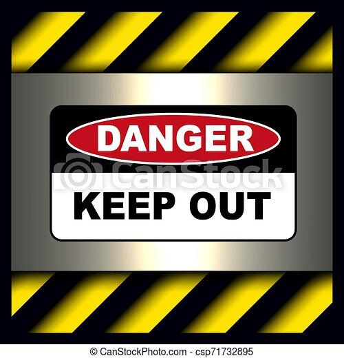 κίνδυνοs , δηλοποίηση αναχωρώ  - csp71732895