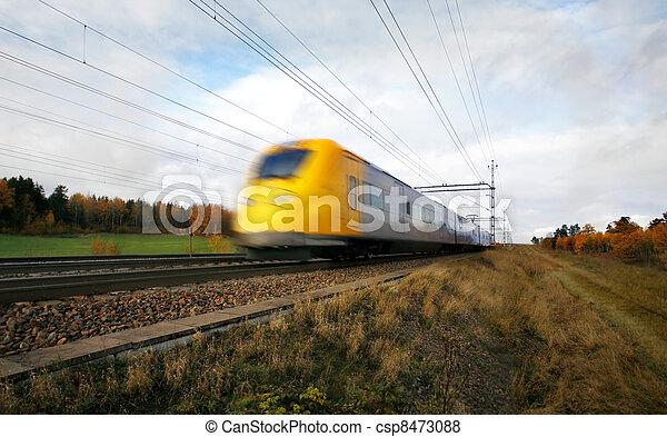 κίνηση , τρένο , γρήγορα , αμαυρώ  - csp8473088