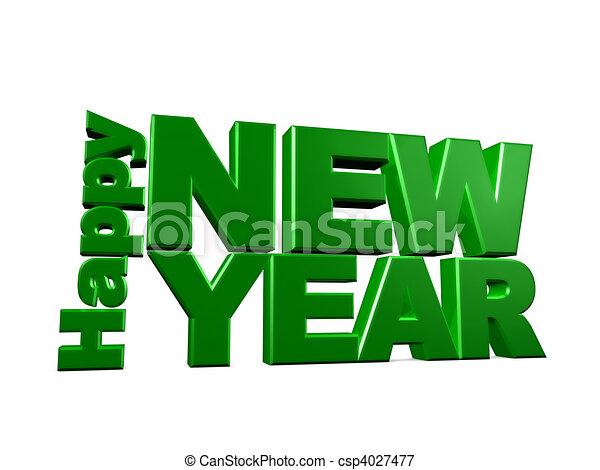 καινούργιος , ευτυχισμένος , έτος  - csp4027477