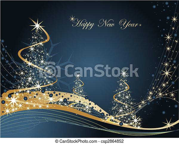 καινούργιος , ευτυχισμένος , έτος  - csp2864852