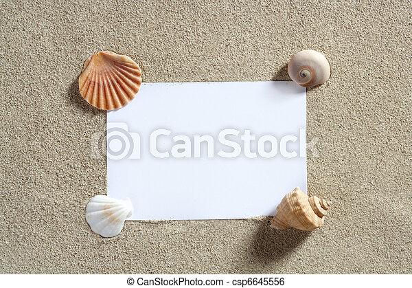καλοκαίρι , διάστημα , διακοπές , άμμος αξίες , κενό , αντίγραφο , παραλία  - csp6645556