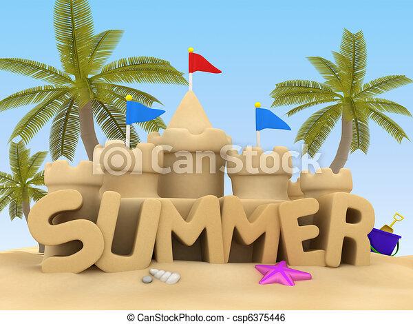 καλοκαίρι  - csp6375446