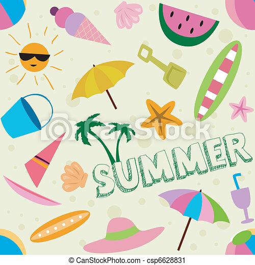 καλοκαίρι , σχεδιάζω  - csp6628831