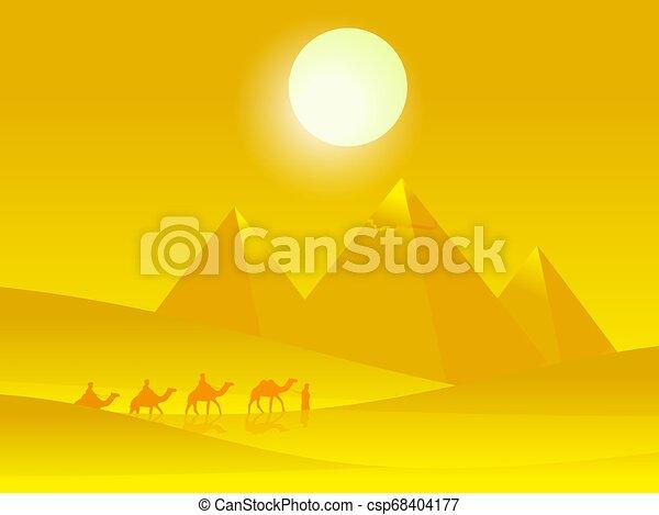 καμήλες , άνθρωποι , καραβάνι , giza., εικόνα , ζεστός , μικροβιοφορέας , φόντο , αγγλική παραλλαγή μπιλιάρδου , εγκαταλείπω  - csp68404177