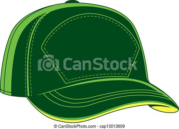 καπέλο του μπέηζμπολ , πράσινο  - csp13013609