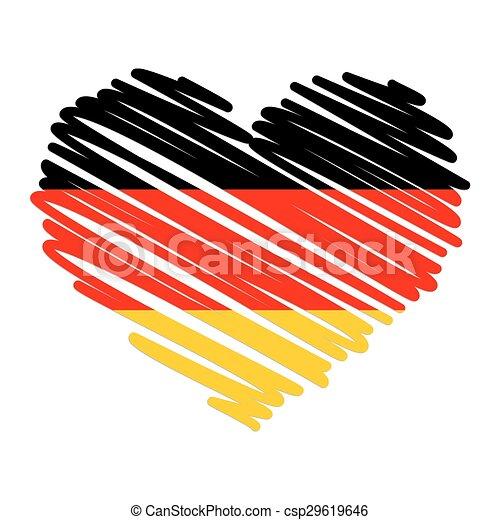 καρδιά , γραμμή , - , ζωγραφική , γερμανία  - csp29619646