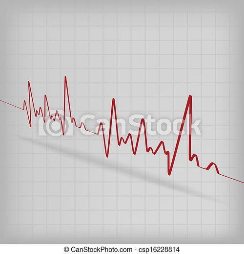 καρδιά , καρδιογράφημα , κτυπώ , φόντο , αγαθός αριστερός  - csp16228814