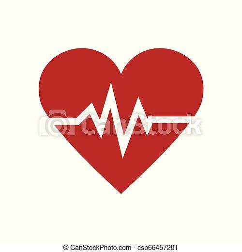 καρδιά , σύμβολο , εικόνα , minimalism , μικροβιοφορέας , όσπριο , φάρμακο , κόκκινο , εικόνα  - csp66457281