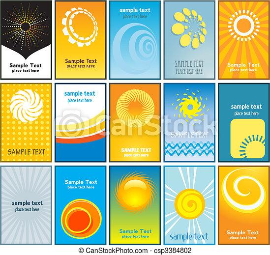 καρτέλλες , καλοκαίρι , επιχείρηση , themed  - csp3384802