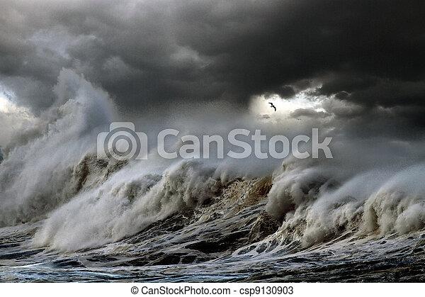 καταιγίδα , θάλασσα  - csp9130903