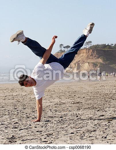 καταπληκτικός , handstand  - csp0068190
