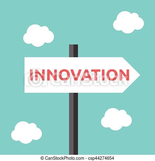 κατεύθυνση , καινοτομία , δρόμος αναχωρώ  - csp44274654