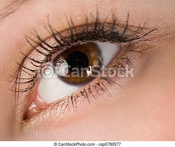 καφέ , μάτι  - csp0780577