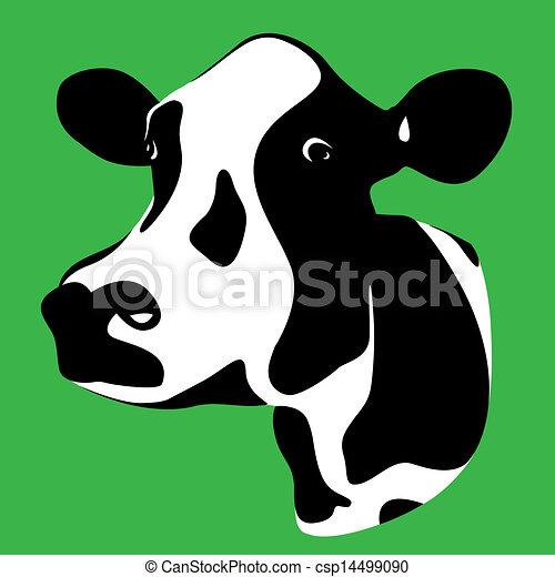 κεφάλι , αγελάδα  - csp14499090