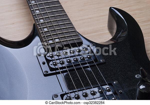 κιθάρα , μαύρο φόντο  - csp32382284
