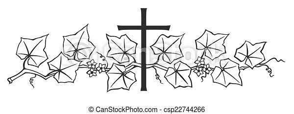 κισσός , σταυρός  - csp22744266