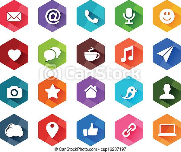 κοινωνικός , διαμέρισμα , μέσα ενημέρωσης , απεικόνιση  - csp16207197