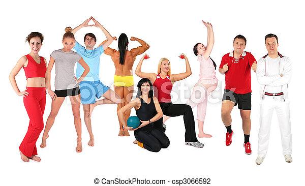 κολάζ , αθλητισμός , σύνολο , άνθρωποι  - csp3066592