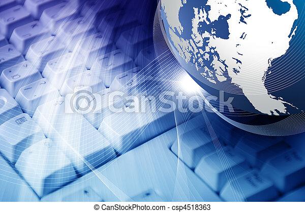 κολάζ , πλανήτης , κλαβιέ  - csp4518363