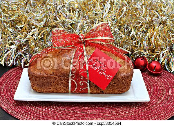 κοπανίζω , card., εύθυμος , κέηκ , xριστούγεννα , ταινία  - csp53054564